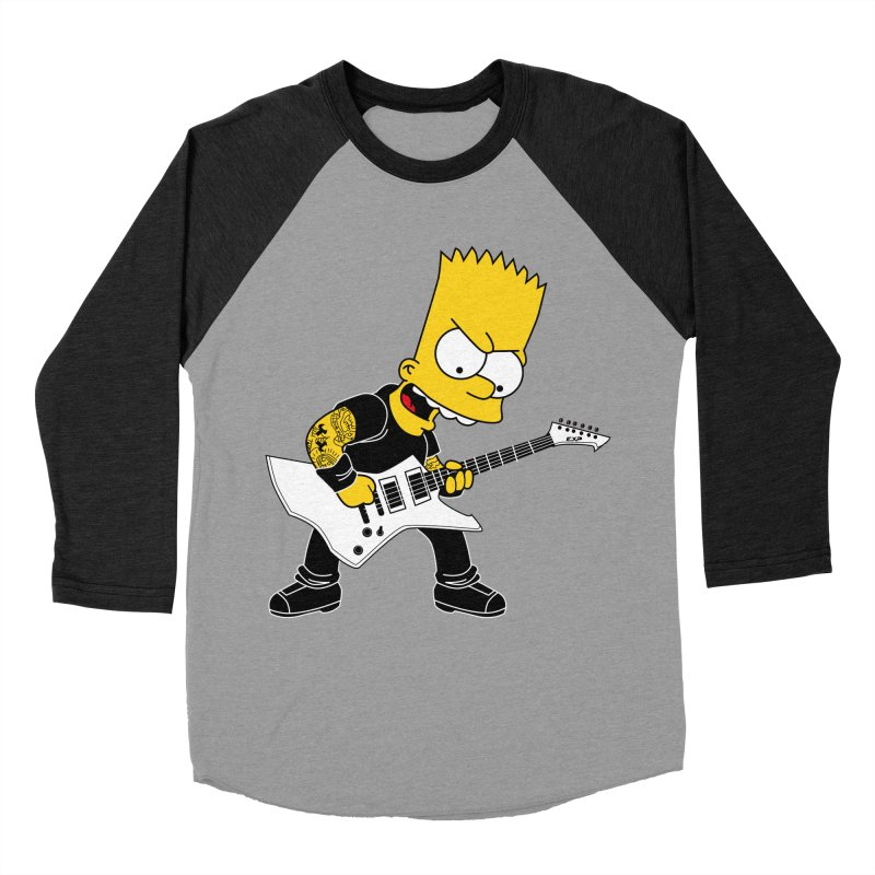 james hatfield of bart simpson Men's Baseball Triblend T-Shirt by ben35dan's Artist Shop