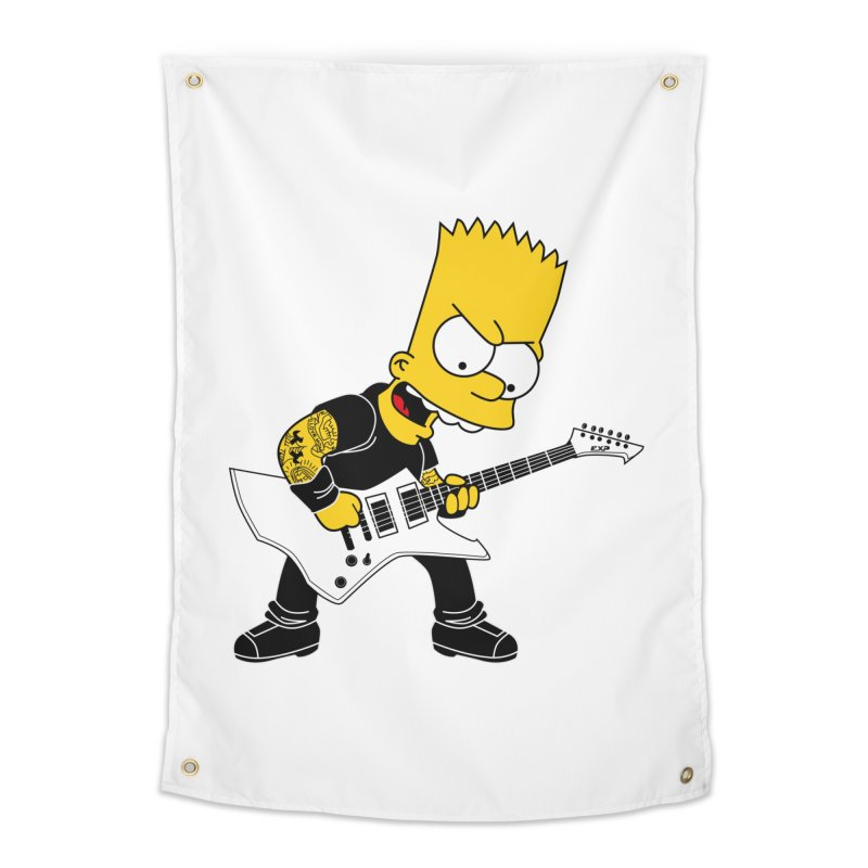 james hatfield of bart simpson Home Tapestry by ben35dan's Artist Shop