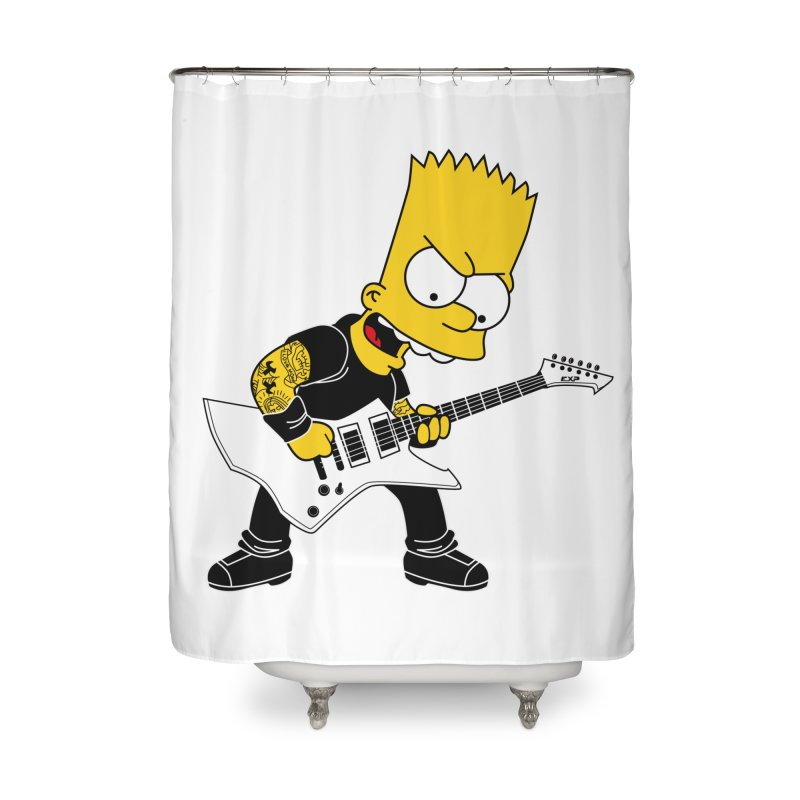 james hatfield of bart simpson Home Shower Curtain by ben35dan's Artist Shop