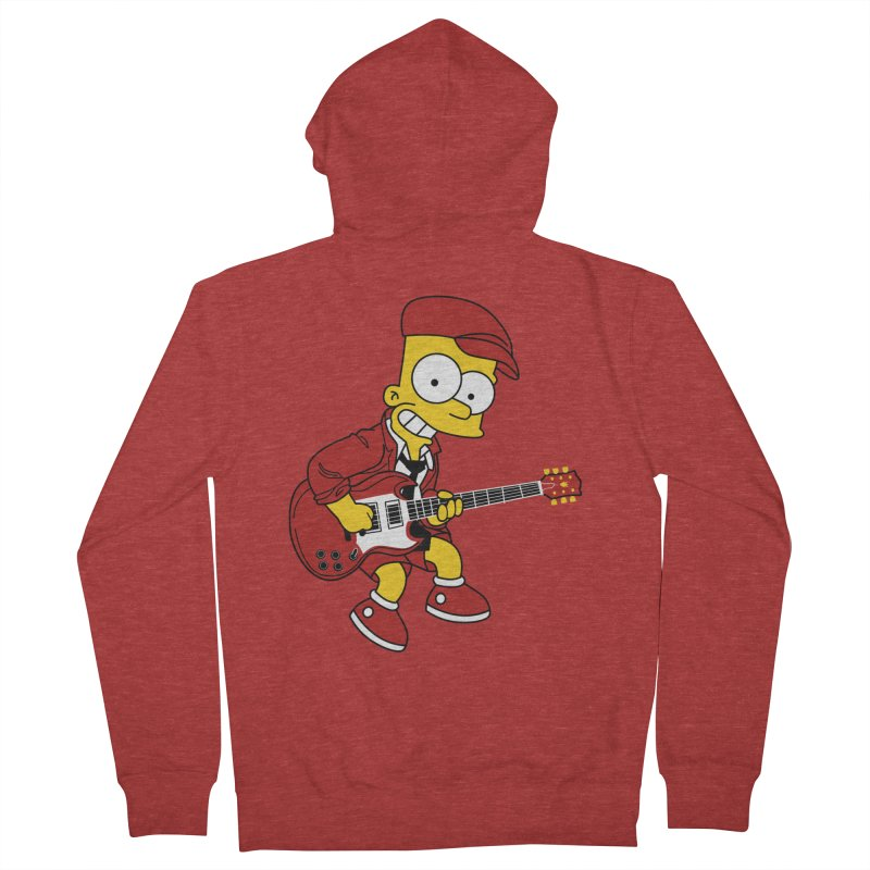 bart ac/dc simpson Men's Zip-Up Hoody by ben35dan's Artist Shop