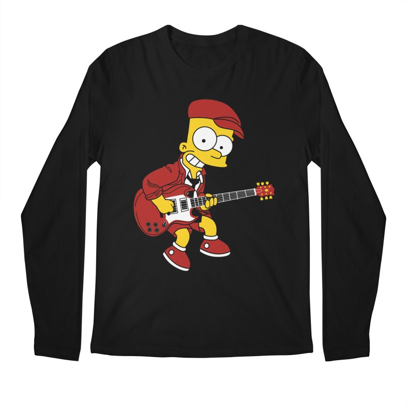 bart ac/dc simpson Men's Longsleeve T-Shirt by ben35dan's Artist Shop