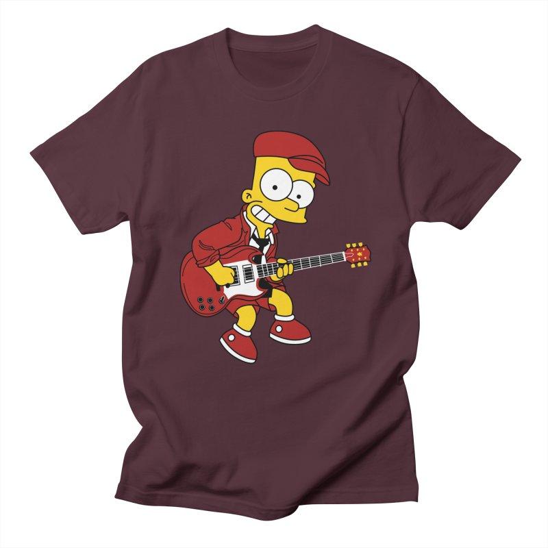 bart ac/dc simpson Men's T-Shirt by ben35dan's Artist Shop