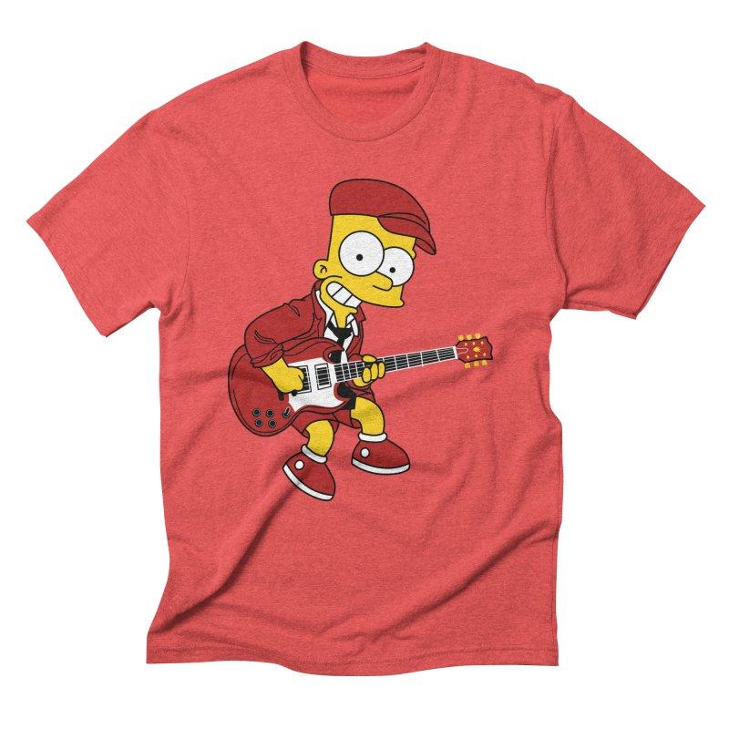 bart ac/dc simpson Men's Triblend T-Shirt by ben35dan's Artist Shop