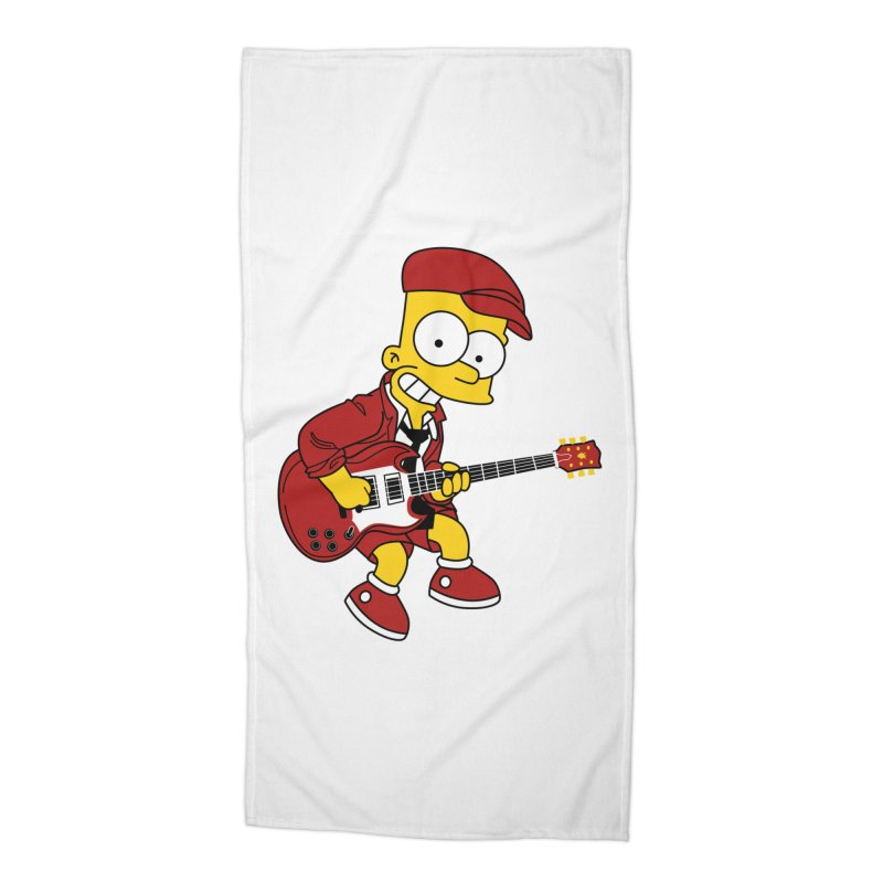 bart ac/dc simpson Accessories Beach Towel by ben35dan's Artist Shop