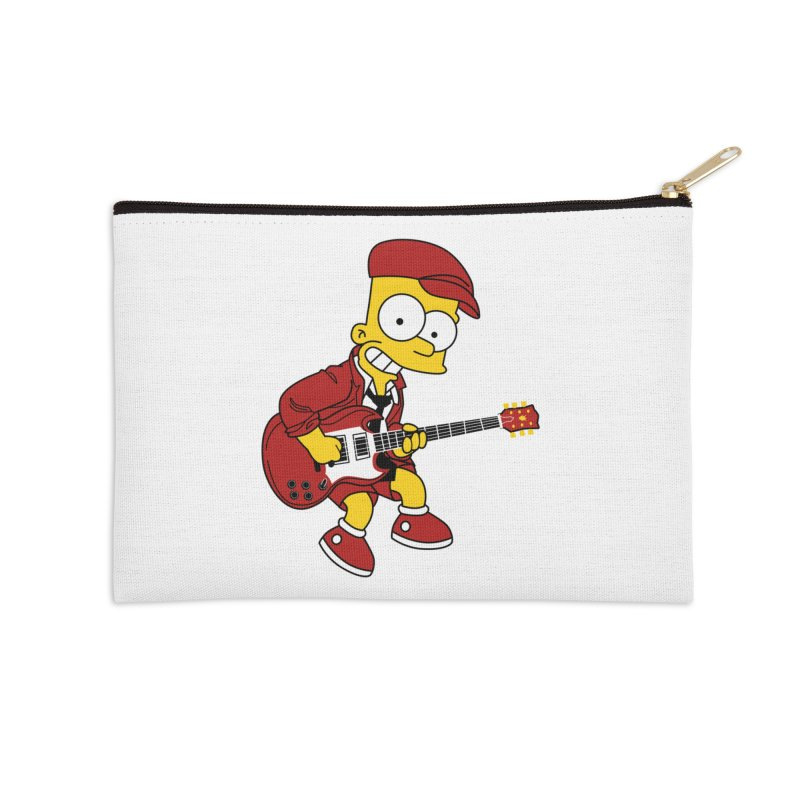 bart ac/dc simpson Accessories Zip Pouch by ben35dan's Artist Shop