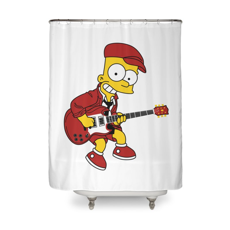 bart ac/dc simpson Home Shower Curtain by ben35dan's Artist Shop