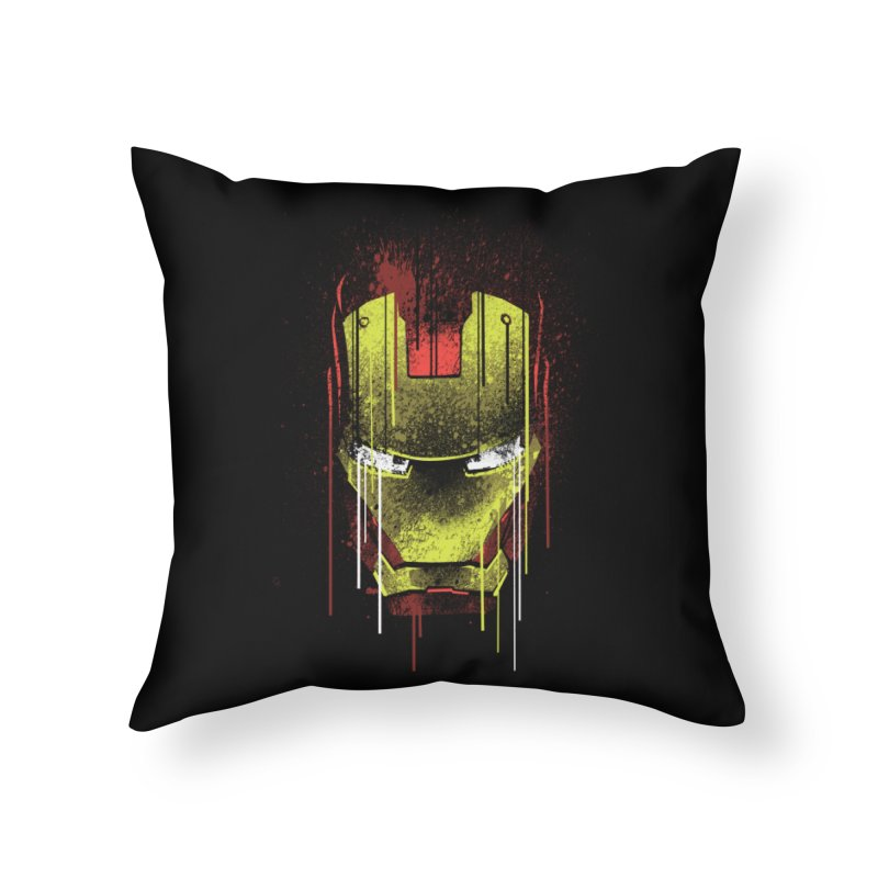 ironman Home Throw Pillow by ben35dan's Artist Shop