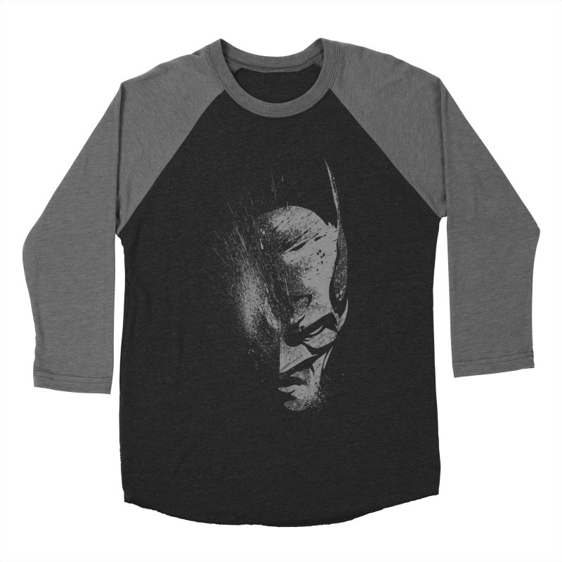 batman head Men's Baseball Triblend T-Shirt by ben35dan's Artist Shop