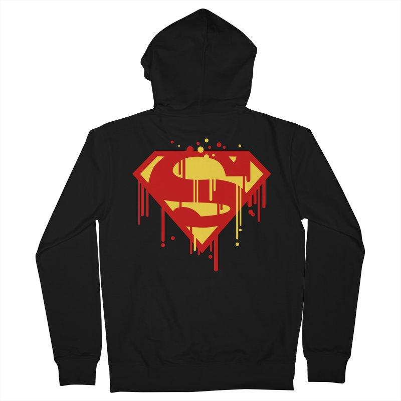 superman symbol Men's Zip-Up Hoody by ben35dan's Artist Shop