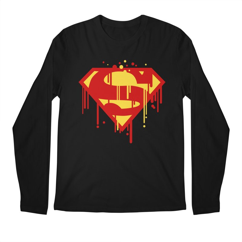 superman symbol Men's Longsleeve T-Shirt by ben35dan's Artist Shop