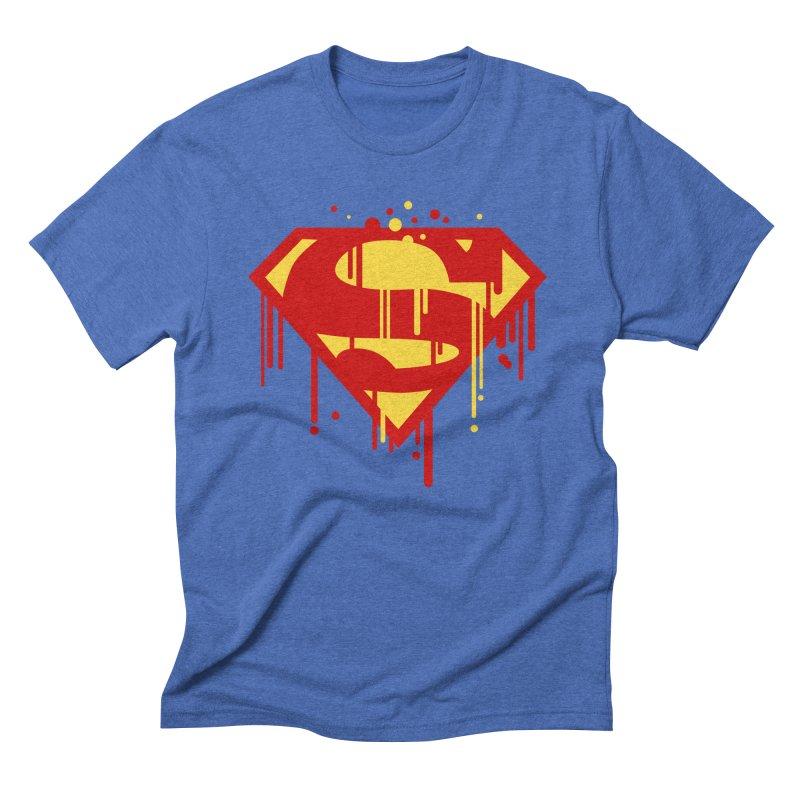 superman symbol Men's Triblend T-Shirt by ben35dan's Artist Shop