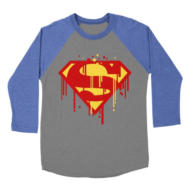 superman symbol Men's Baseball Triblend T-Shirt by ben35dan's Artist Shop