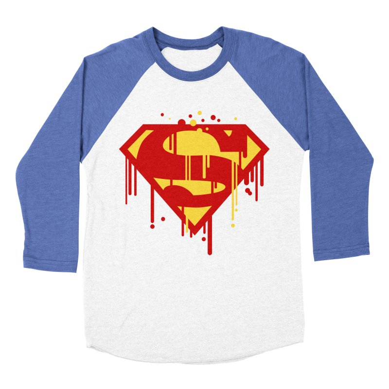 superman symbol Men's Baseball Triblend T-Shirt by ben35dan's Artist Shop