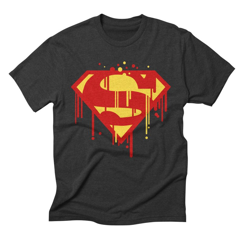 superman symbol Men's Triblend T-shirt by ben35dan's Artist Shop