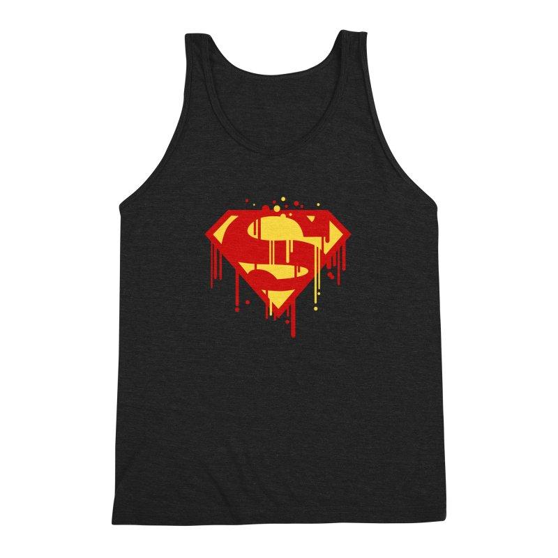superman symbol Men's Triblend Tank by ben35dan's Artist Shop