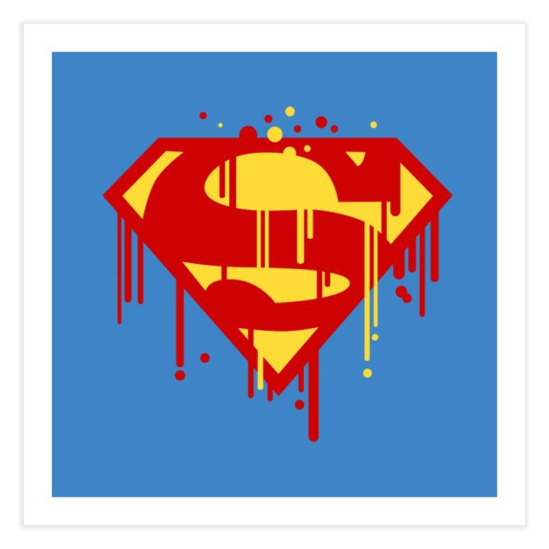 superman symbol Home Fine Art Print by ben35dan's Artist Shop