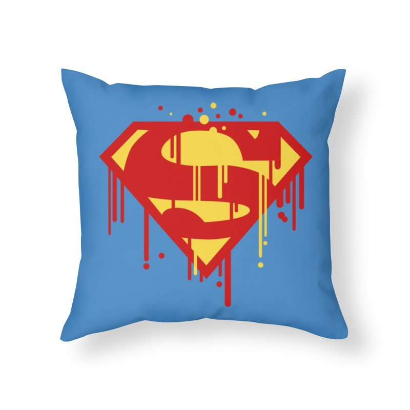 superman symbol Home Throw Pillow by ben35dan's Artist Shop