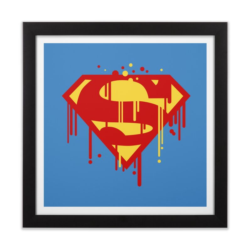 superman symbol Home Framed Fine Art Print by ben35dan's Artist Shop
