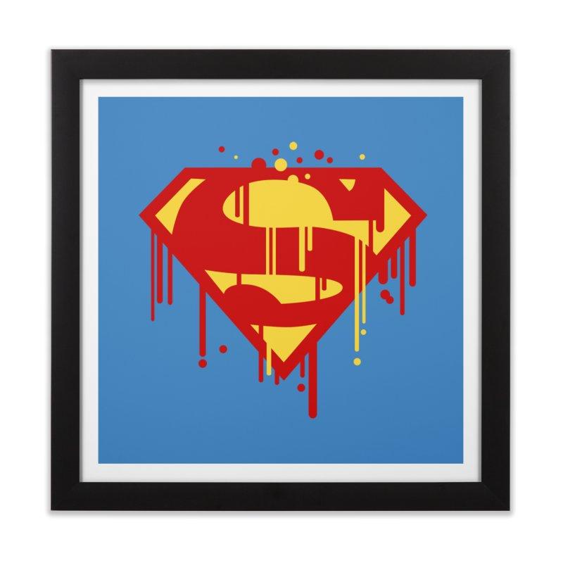 superman symbol Home Framed Fine Art Print by ben35dan's Artist Shop