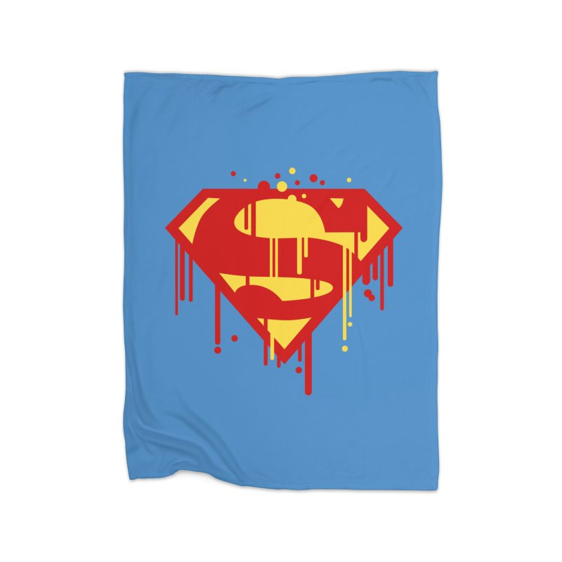 superman symbol Home Blanket by ben35dan's Artist Shop
