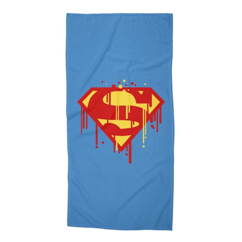 superman symbol Accessories Beach Towel by ben35dan's Artist Shop