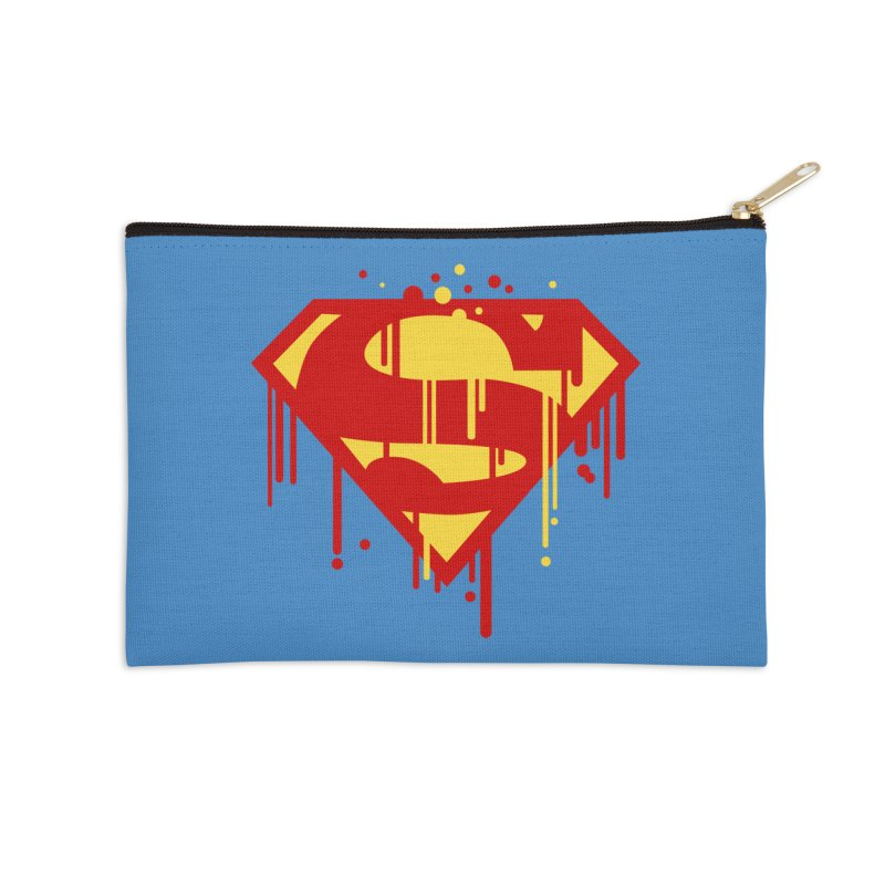 superman symbol Accessories Zip Pouch by ben35dan's Artist Shop