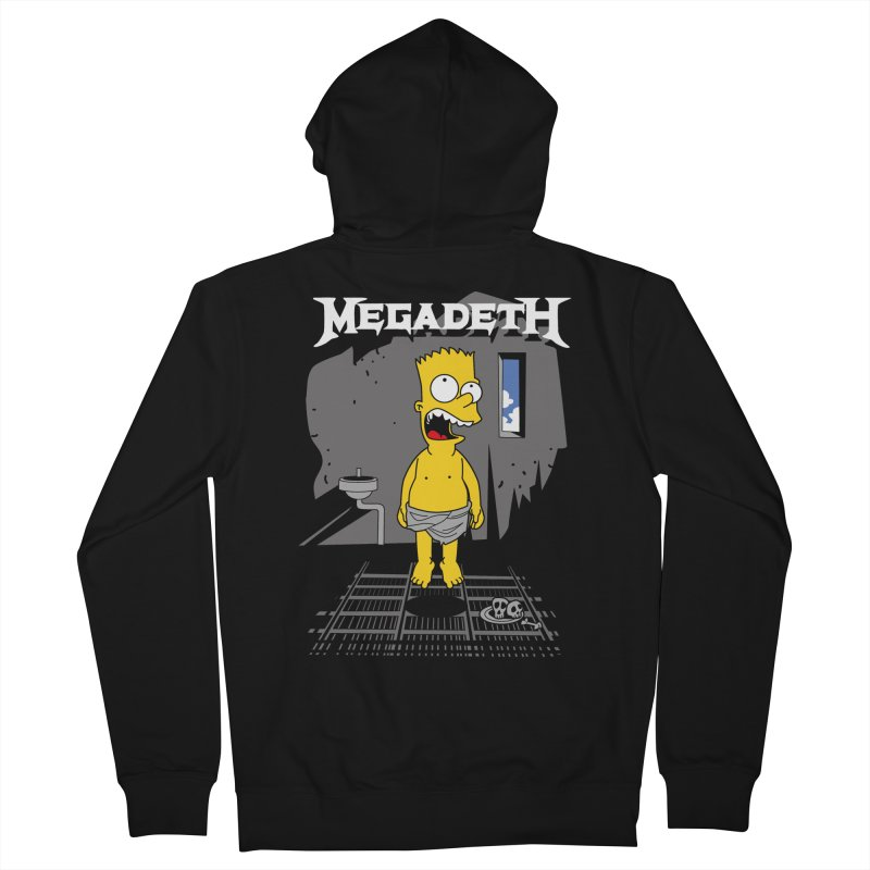 megadeath bart simpson Men's Zip-Up Hoody by ben35dan's Artist Shop