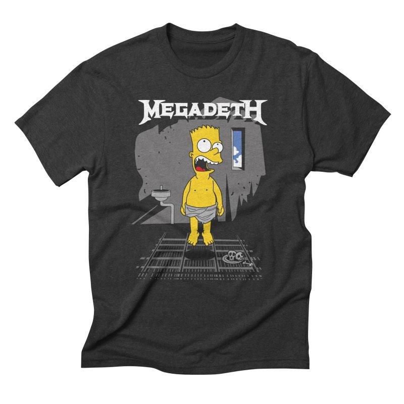 megadeath bart simpson Men's Triblend T-Shirt by ben35dan's Artist Shop