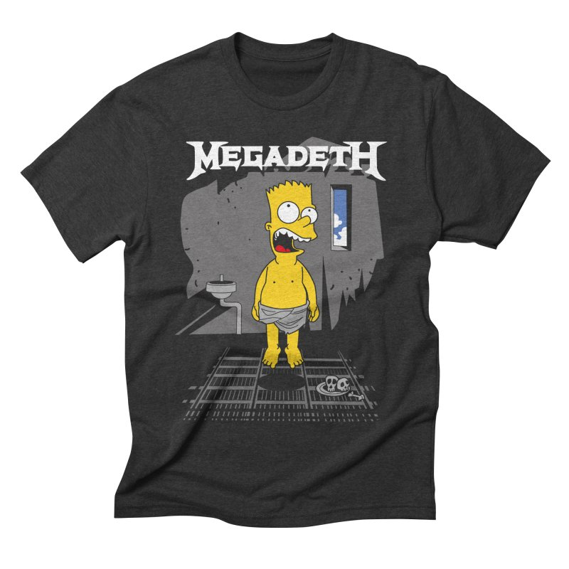 megadeath bart simpson Men's Triblend T-shirt by ben35dan's Artist Shop