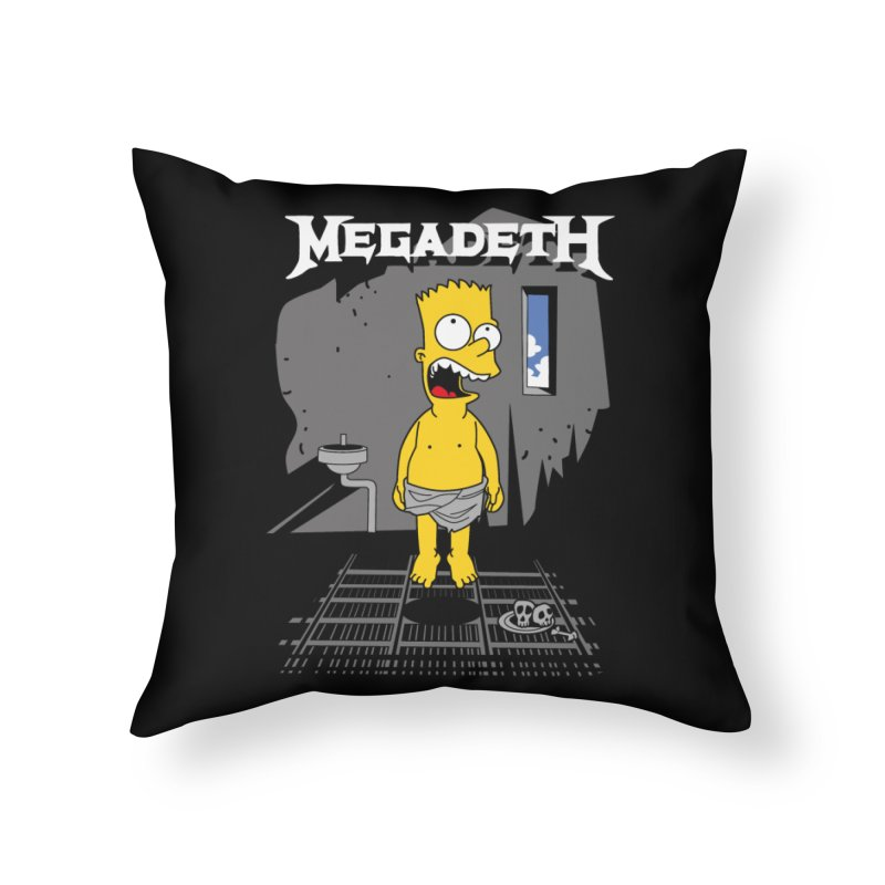 megadeath bart simpson Home Throw Pillow by ben35dan's Artist Shop
