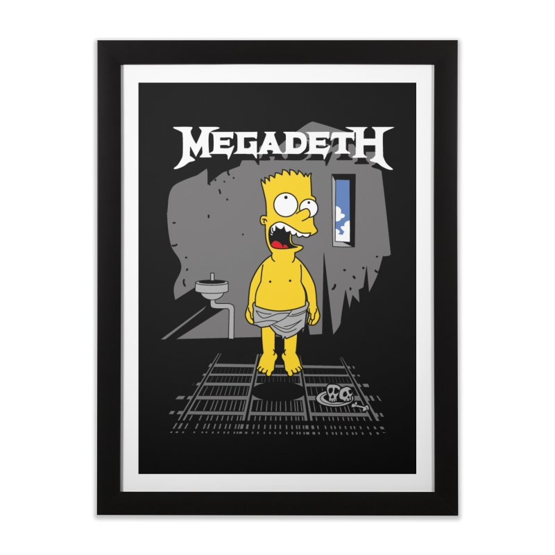 megadeath bart simpson Home Framed Fine Art Print by ben35dan's Artist Shop