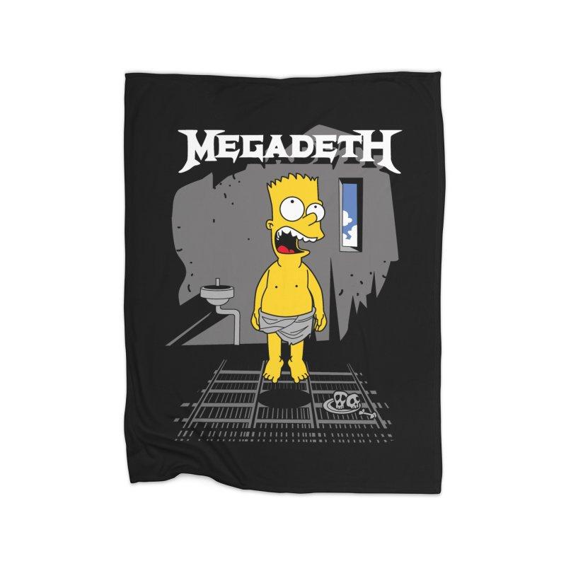 megadeath bart simpson Home Blanket by ben35dan's Artist Shop
