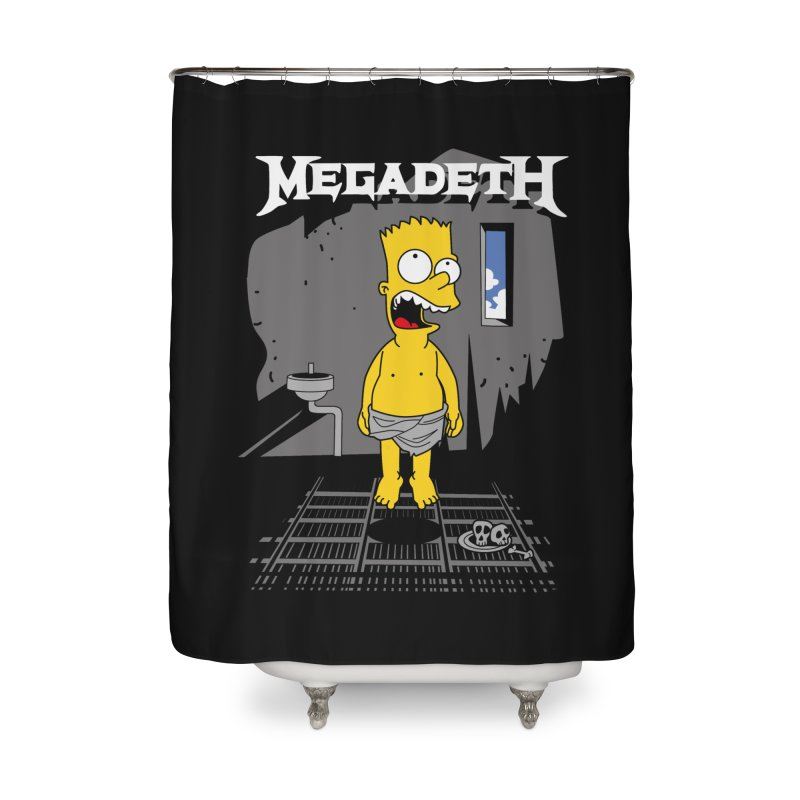 megadeath bart simpson Home Shower Curtain by ben35dan's Artist Shop