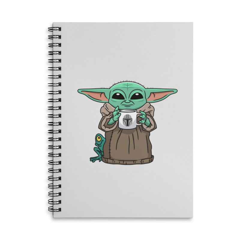 The Child Sips Accessories Lined Spiral Notebook by Ben Douglass