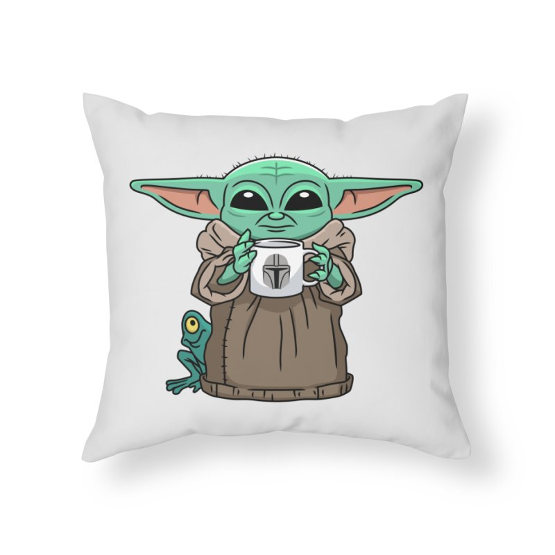 The Child Sips Home Throw Pillow by Ben Douglass