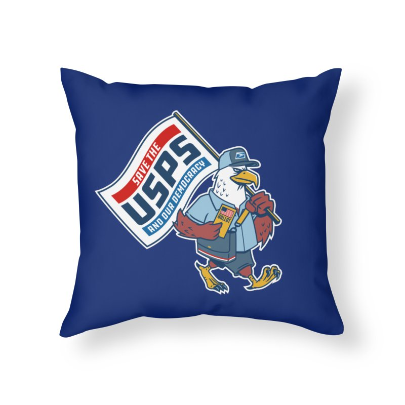 Save the USPS Home Throw Pillow by Ben Douglass