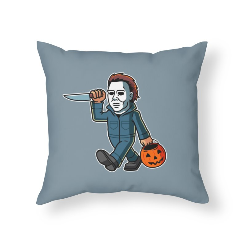Michael Myers Home Throw Pillow by Ben Douglass
