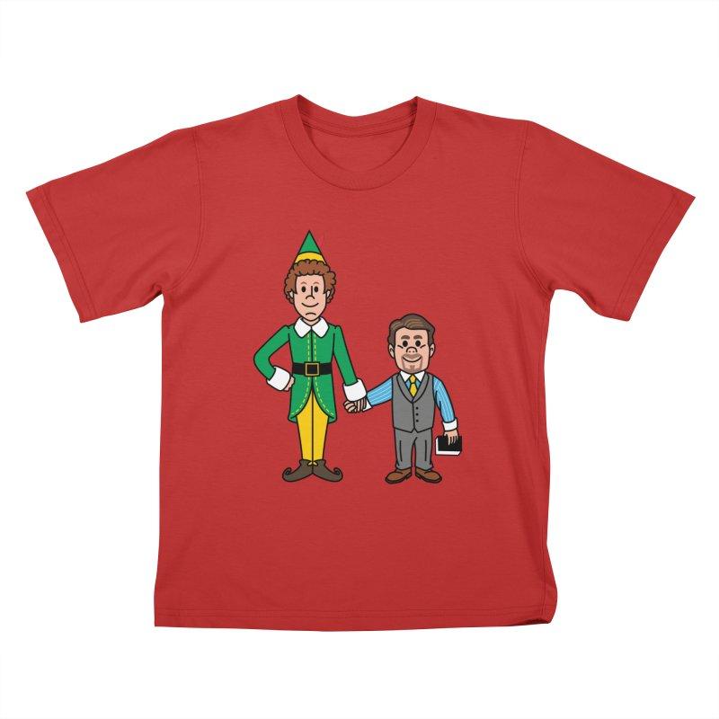 Angry Elves Kids T-Shirt by Ben Douglass