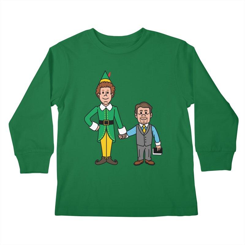 Angry Elves Kids Longsleeve T-Shirt by Ben Douglass