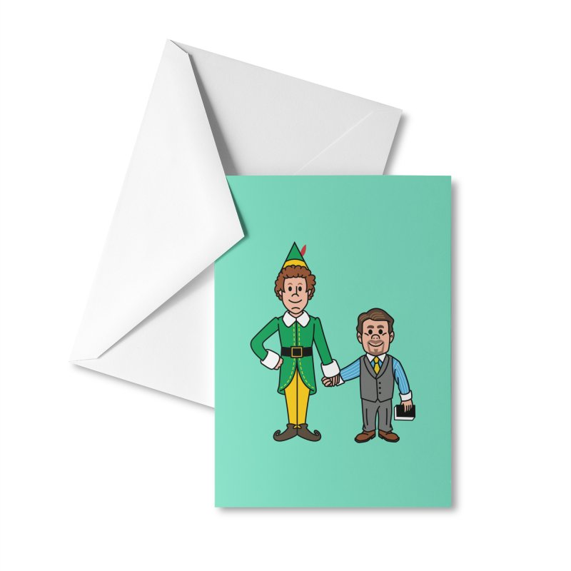 Angry Elves Accessories Greeting Card by Ben Douglass