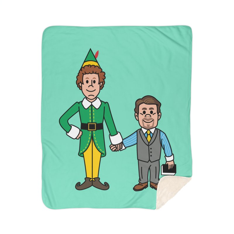 Angry Elves Home Blanket by Ben Douglass