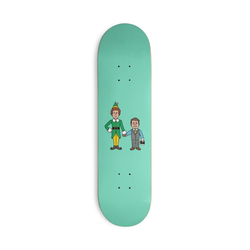 Angry Elves Accessories Skateboard by Ben Douglass