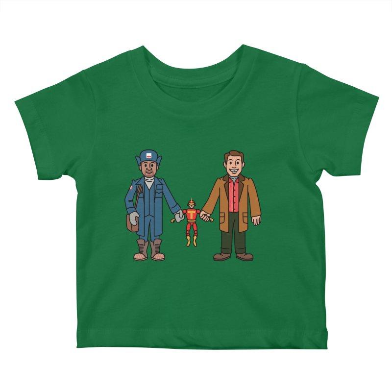 Turbo Friends Kids Baby T-Shirt by Ben Douglass