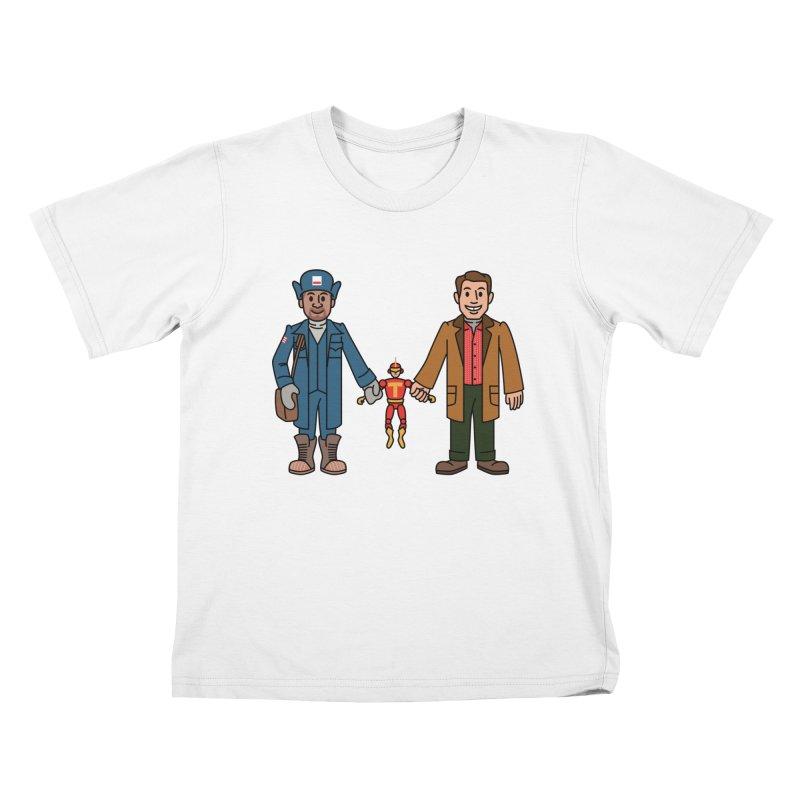 Turbo Friends Kids T-Shirt by Ben Douglass