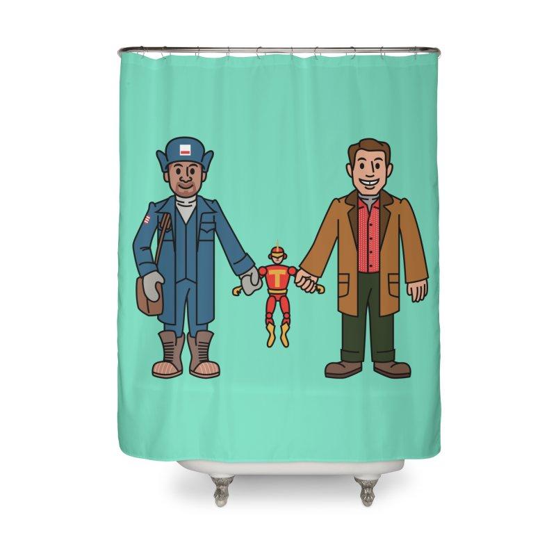 Turbo Friends Home Shower Curtain by Ben Douglass