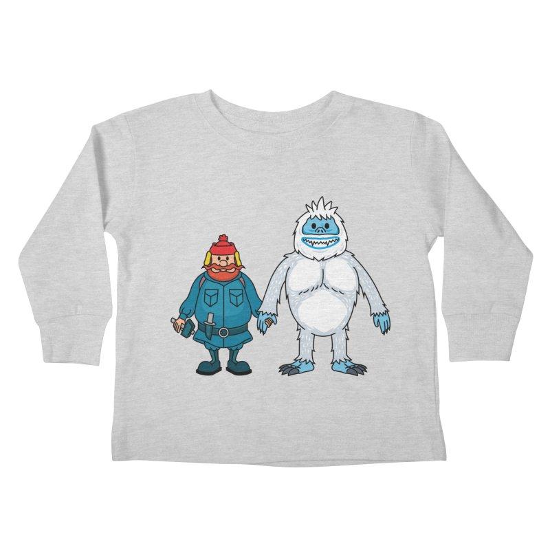 Misfit Friends Kids Toddler Longsleeve T-Shirt by Ben Douglass