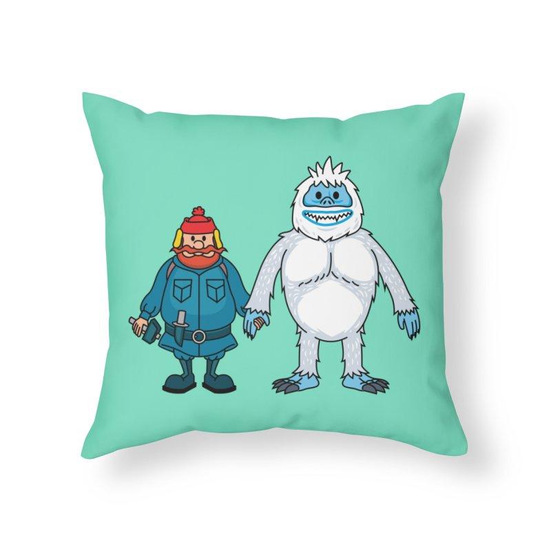Misfit Friends Home Throw Pillow by Ben Douglass
