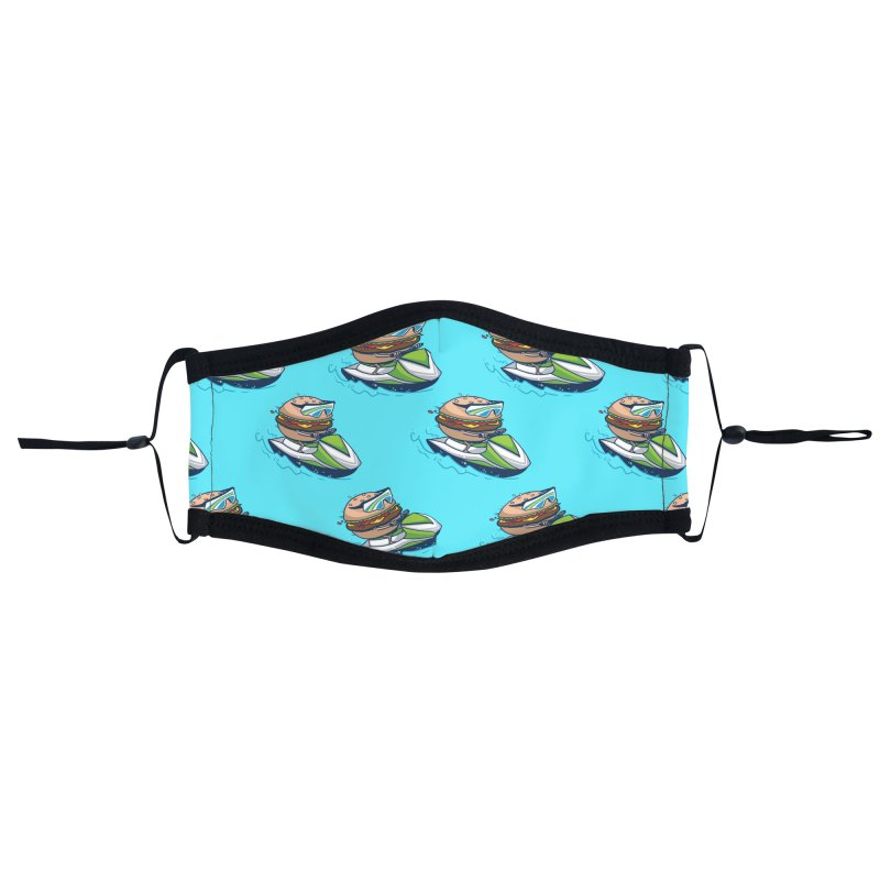 Cheeseburger in Paradise Accessories Face Mask by Ben Douglass
