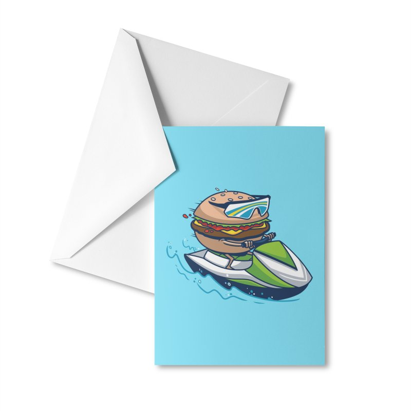 Cheeseburger in Paradise Accessories Greeting Card by Ben Douglass