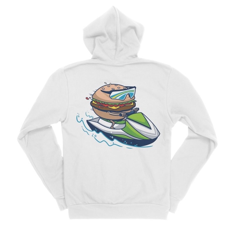 Cheeseburger in Paradise Women's Zip-Up Hoody by Ben Douglass